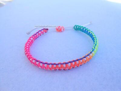 Bracelet Double Square Knot (4)
