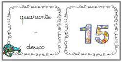 Associer nombres en lettres et chiffres
