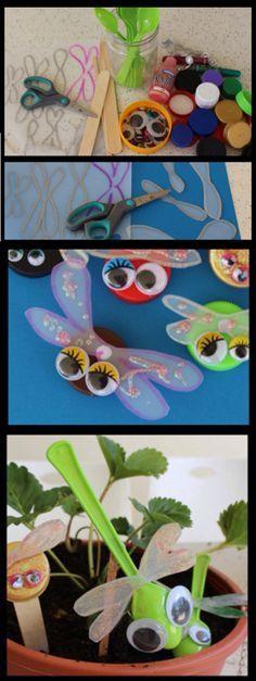 Idée Pinterest : Réaliser des insectes en récup.