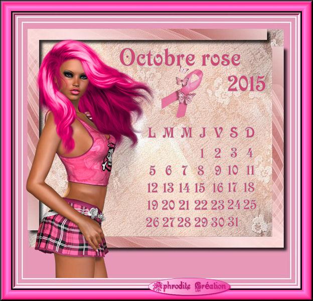 Création Occasion spéciale : Octobre Rose 2015