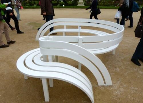 Fiac Tuileries Jeppe Hein benches 1
