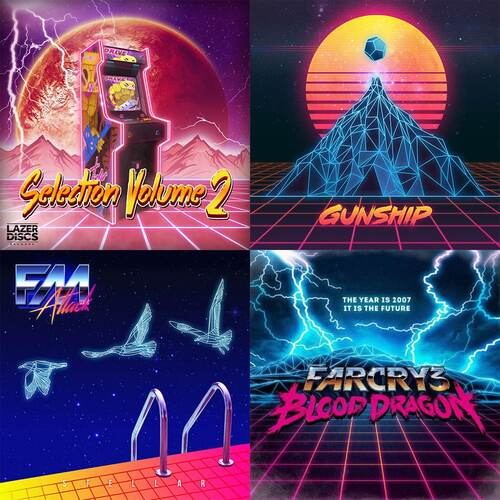 L'esthétique rétro-furriste de la Synthwave au travers d'albums