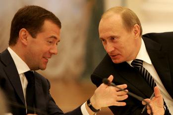 Validimir Premier ministre sous Medvedev