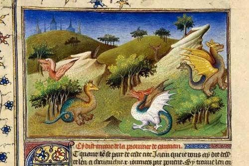 le dragon en histoire de  l'art