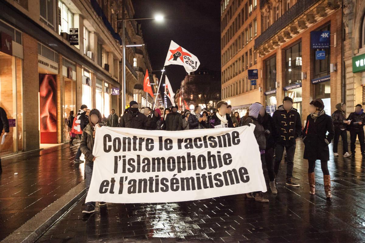 200 personnes vendredi à Toulouse contre le racisme, l'islamophobie et l'antisémitisme