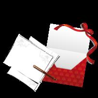 Render Objets - Renders enveloppe papier stylo