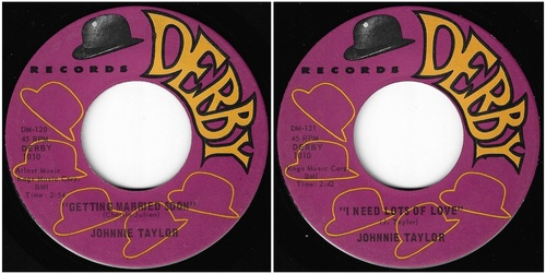 JOHNNIE TAYLOR Sar & Derby Records - 1961 / 1965