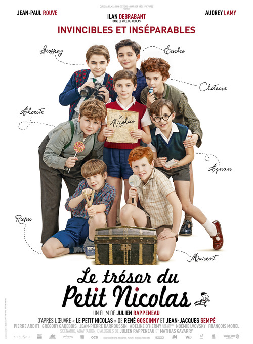Le Trésor du Petit Nicolas avec Jean-Paul Rouve, Audrey Lamy, Ilan Debrabant - Le 20 octobre 2021 au cinéma