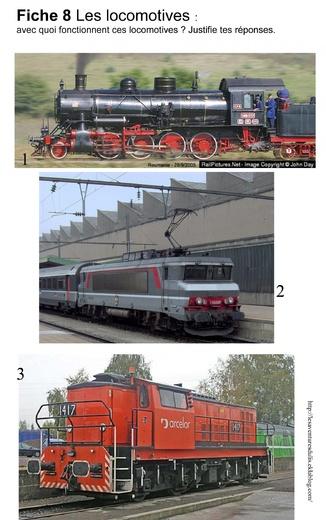 vapeur resistance différentes locomotives