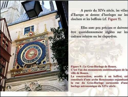 Le gros Horloge à Rouen (Seine-Maritime)