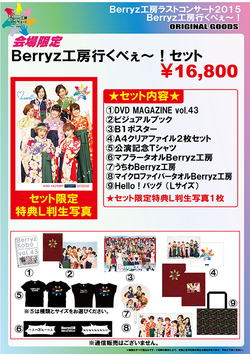Goodies disponibles lors du concert au Budokan (03.03)