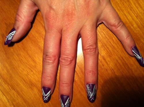 Nail art : Edge dentelle