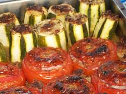 Tomates et courgettes farcies