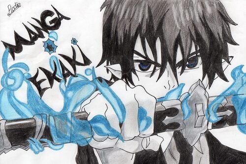 Rin Okumura (Blue Exorcist) ~ by ¤ Elodie - Manga O Ekaki ¤