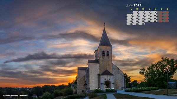 Calendrier du mois de juin, par Christian Labeaune....