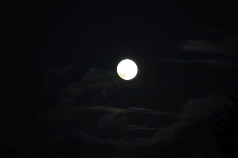 835 - Coucher de soleil et lever de lune sur Riantec (56) !
