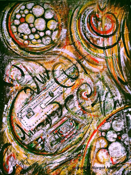 Exposition  Margot Asphe - La Noosphère ou la Synchronicité-    Bibliothèque Schoelcher         du 04 Mars au 25 Mars  2016