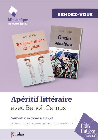 Apéritif littéraire à la médiathèque de Montbéliard, le 2/10/2021