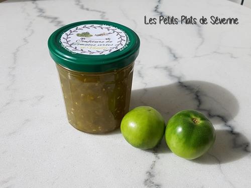 Confitures de tomates vertes à la vanille au Tmix