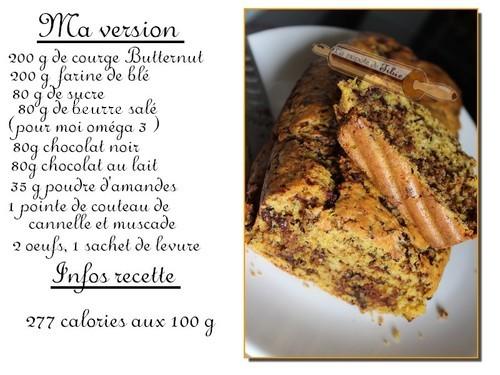 Cake a la courge butternut et chocolat