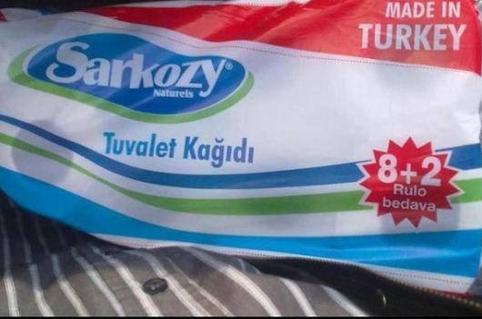 Sarkozy est le nom d'un papier toilette en Turquie !