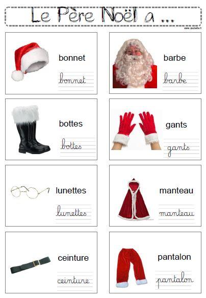 Pour écrire sur Noël ou le Père Noël - CP