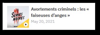 Avortements criminels : les « faiseuses d'anges »