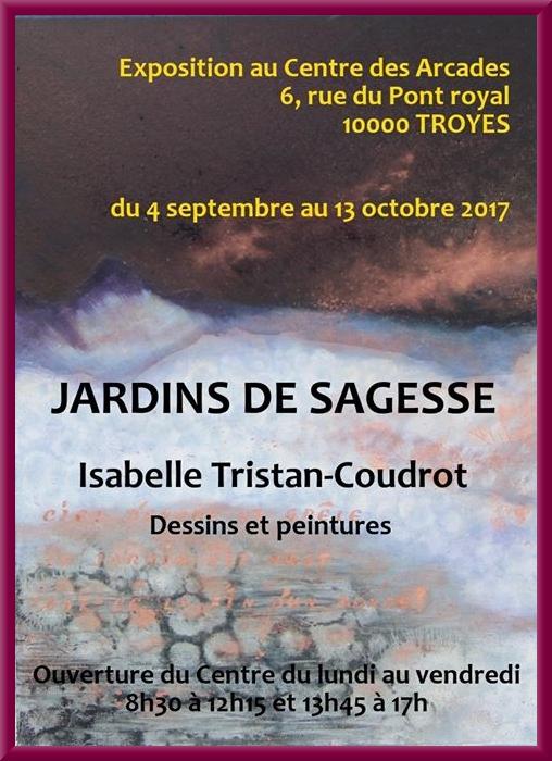 """""""Jardins de sagesse"""" la nouvelle exposition d'Isabelle Tristan-Coudrot a lieu à Troyes jusqu'au 13 octobre"""