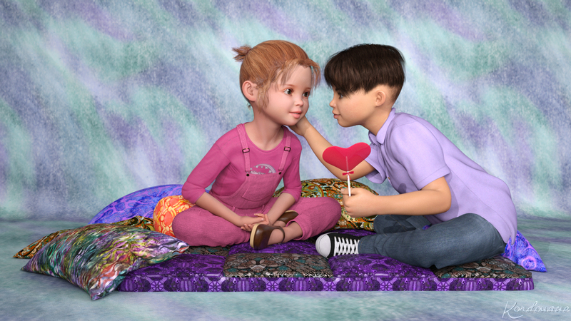 Fond d'écran : Saint-Valentin : les enfants