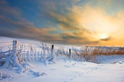 beaux paysages enneigés