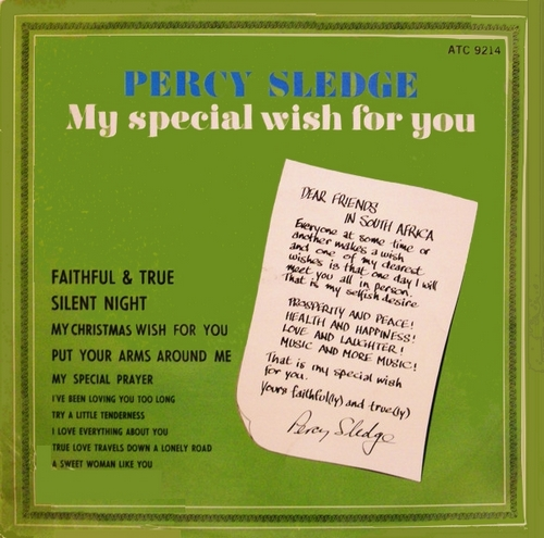 "Percy Sledge : Album "" My Special Wish For You "" Atlantic Records ATC 9214 [ ZA ]"
