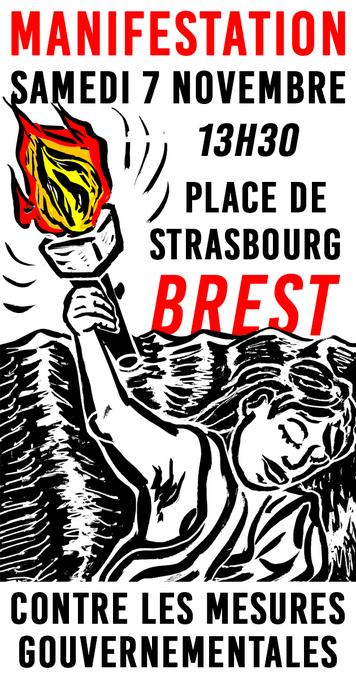 Manifestation 7-11-2020 13h30 pl. Strasbourg BREST