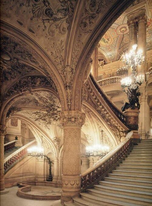 escalier intérieur du l'Opéra