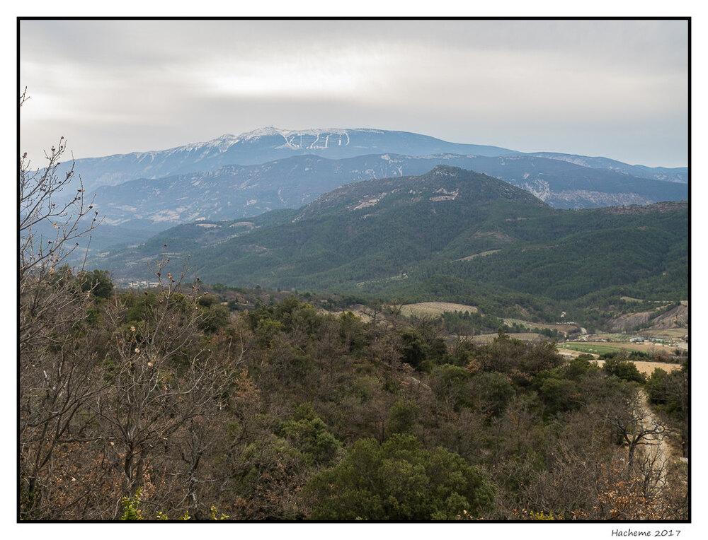 Le Ventoux depuis la Montagne de la Baume Noire
