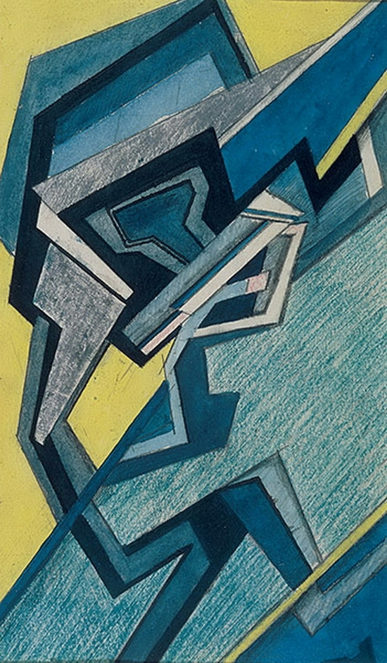 Helen Saunders, Composition abstraite, 1915