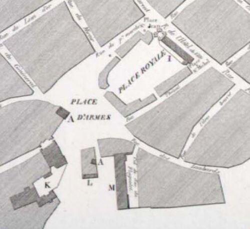 Le Quesnoy, centre - Plan d'arrondissement d'Avesnes, 1837 (numerique.bibliotheque.bm-lille.fr)