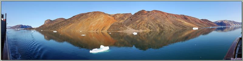 Superbe navigation dans le Fjord Inglefield avec des vues à couper le souffle - Région de Qaanaaq - Groenland