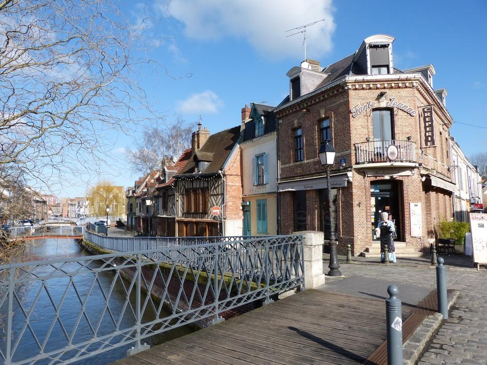 Dans le quartier moyennâgeux d'Amiens