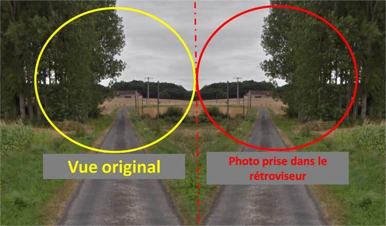 """effet """"miroir"""" de la photo"""