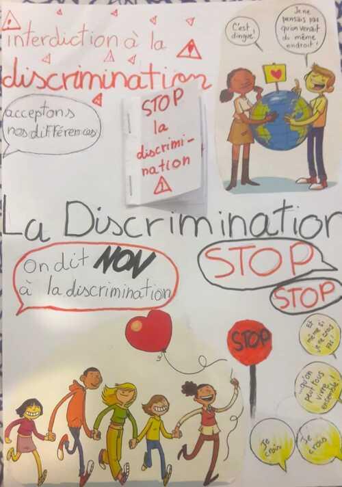 Affiches-NON à la discrimination!!