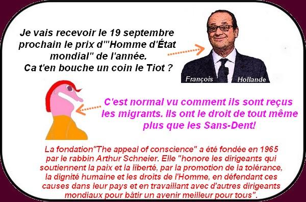 Hollande en route vers le Nobel de la Paix?