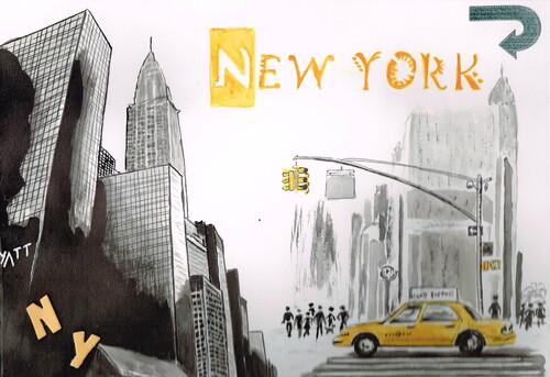 New York, aquarelle