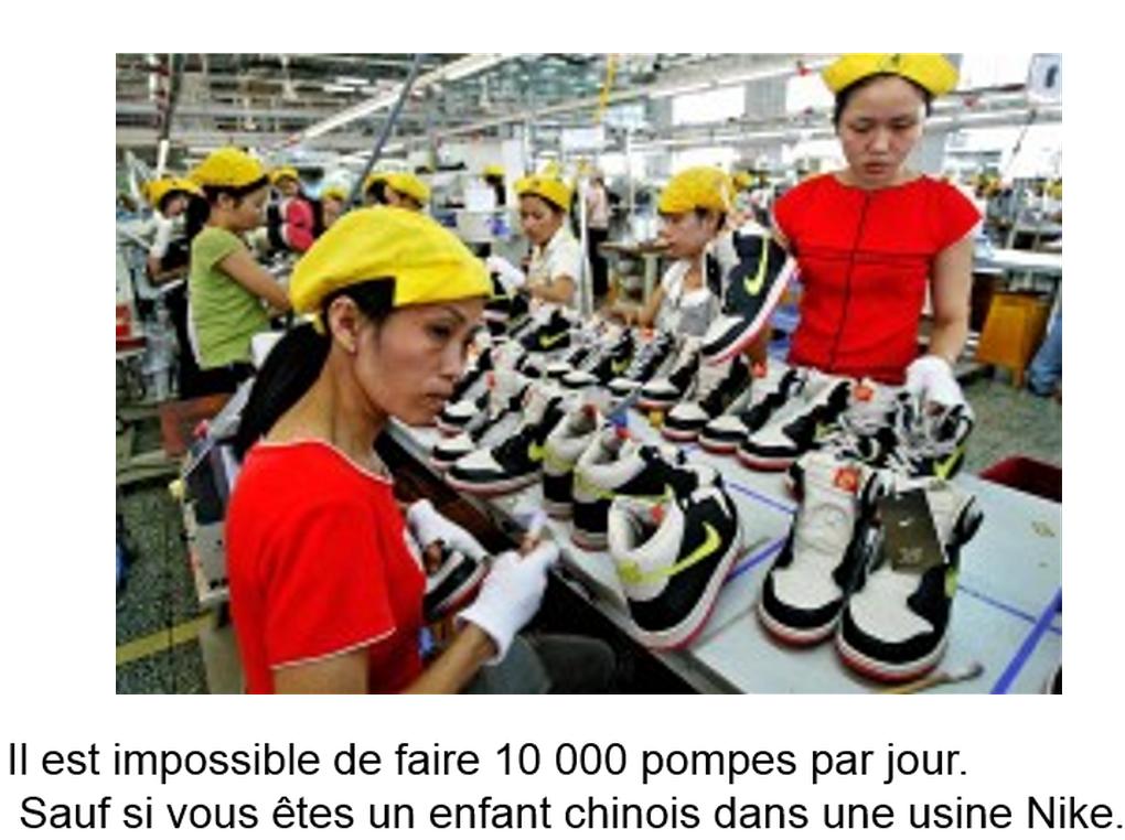usines nike chine