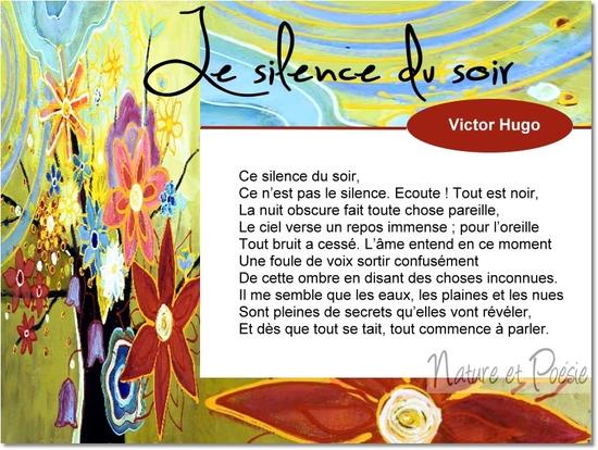 Poèmes De Victor Hugo Le Silence Du Soir Le Monde De La