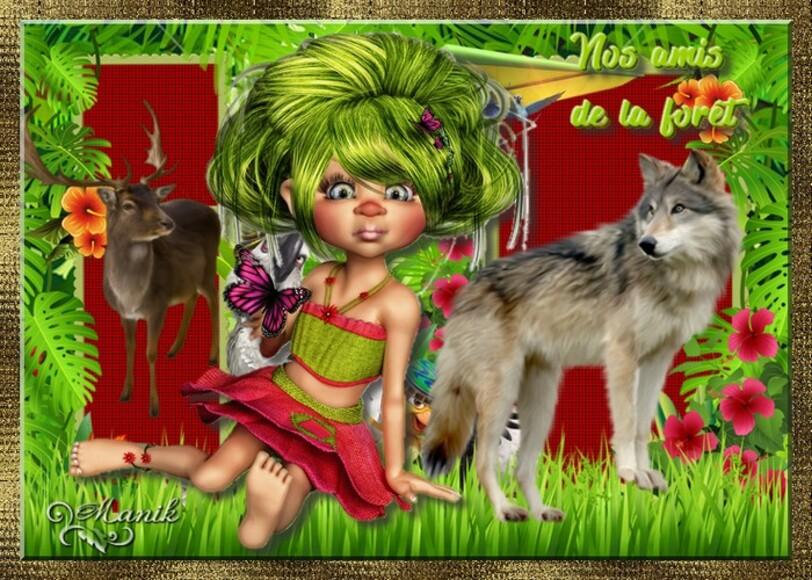 Défi pour Lara ****Nos amis de  la forêt ****