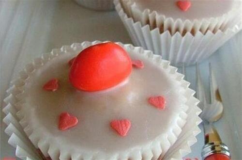Cupcakes glacés à la fraise régressive
