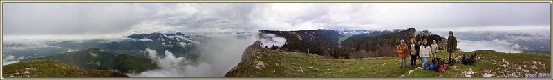 Panorama sur ce qui peut être vu depuis le sommet de La Buffe (1623 m) - Vercors - 38
