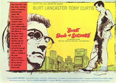 SWEET SMELL OF SUCCESS POSTE BOX OFFICE USA 1957