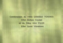 Filtre AAA Filter et Filtre déformation