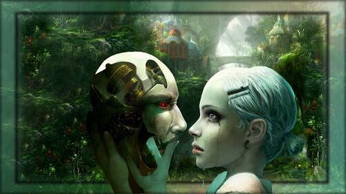 fond femme masque